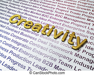 Marketing concept: Golden Creativity on Business background