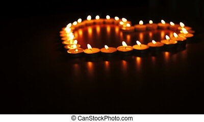 Candles Heart Dolly - Circular, shallow depth of field,...
