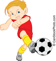 boy cartoon soccer player illustration