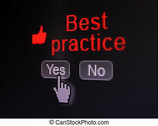 Education concept: Thumb Up icon and Best Practice on...