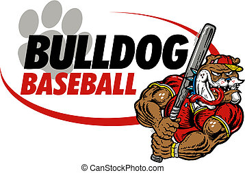 bulldog baseball design