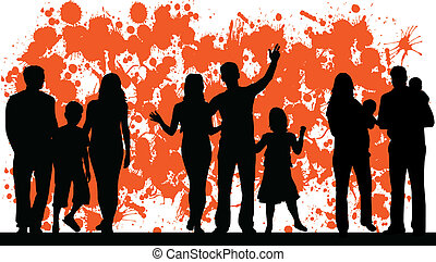 family and abstract vector
