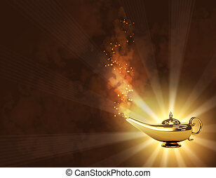 Magic lamp - Symbol performance of desires - magic lamp