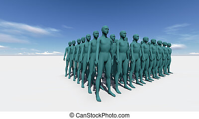 Standing in The Crowd - Standingin The Crowd made in 3d...
