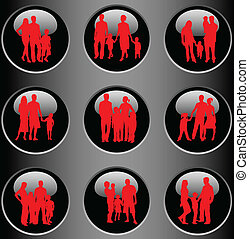 Profiles of the family-buttons