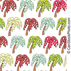 Palm Endless Seamless Pattern