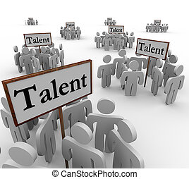 talento, grupos, gente, Trabajo, perspectivas, candidatos,...
