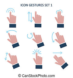 Gesture icons for touch devices - Gesture icons for touch...
