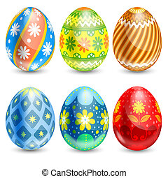 Easter eggs - Set of beautifully painted Easter eggs