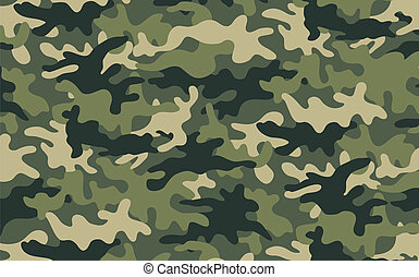 Camouflage - Vector illustration of green khaki camouflage...