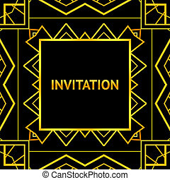 Art decor invitation card in vintage style Vector...