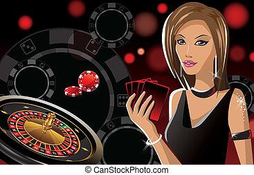 girl in casino banner