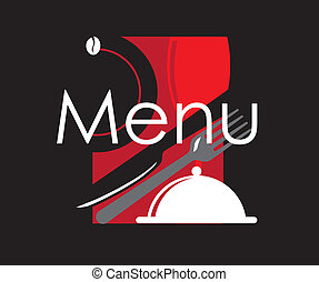restaurant menu with with dishes and food. Good for cafe or...