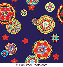 Seamless paisley and flower - Seamless pattern in oriental...