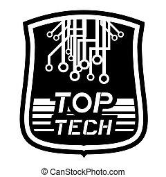 Tech emblem - Creative design of tech emblem