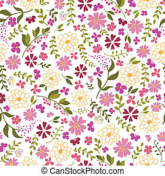 seamless pattern from spring flowers.