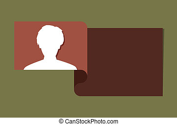 the introduce template with head icon - the illustration of...