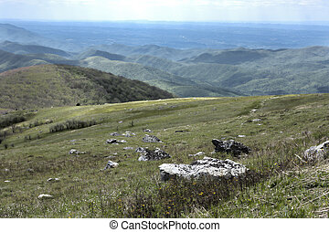 White Top Mountain, Virginia - View from the top of White...