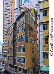 Old residential building in Hong Kong
