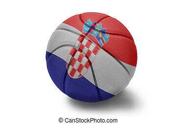 Croatian Basketball - Basketball ball with the national flag...