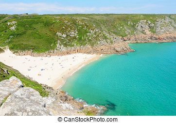 Porthcurno Beach - View of Porthcurno Beach near Penzance...