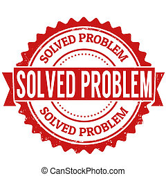 Solved problem stamp - Solved problem grunge rubber stamp on...