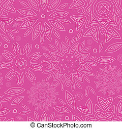 Pink abstract flowers texture seamless pattern background