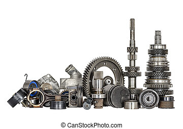 Set of various car parts - Set of various spare parts of...