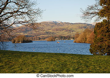 View of Lake Windermere. How in Lake District National Park...