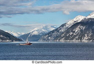 Fishing trawler in Portage Cove - Fishing boat in Portage...