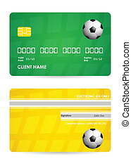 bank card with a special soccer ball design, vector,EPS10