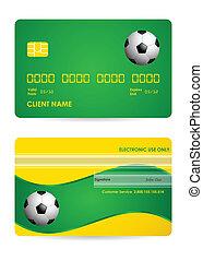 bank card with a special soccer ball design, vector,EPS10