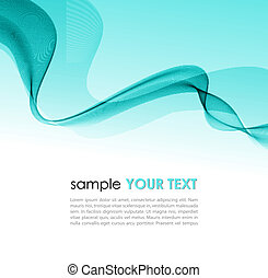 Abstract colorful background blue smoke wave - Vector...
