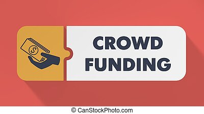 Crowd Funding Concept in Flat Design. - Crowd Funding...