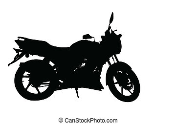 Side Profile of Motorbike Silhouette - Side Profile Image of...