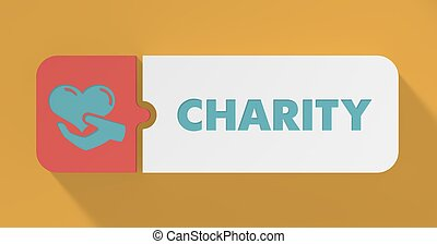 Charity Concept in Flat Design.