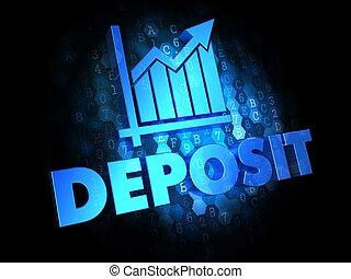Deposit Concept on Dark Digital Background.