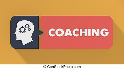 Coaching Concept in Flat Design. - Coaching Concept in Flat...