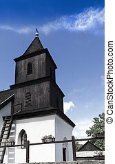 Black and white - Church monument in Hungary The upper side...
