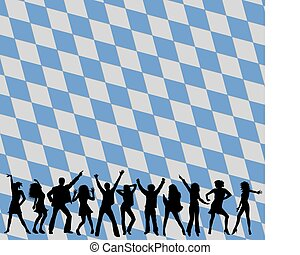dancing people silhouettes in bavaria