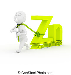Love Zinc. - 3d kids are dragging Zinc.