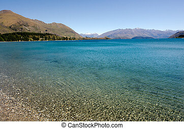 Wanaka - New Zealand - Wanaka lake in the Otago region of...