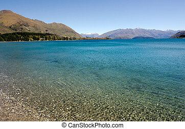 Wanaka - New Zealand - Wanaka lake in the Otago region of...
