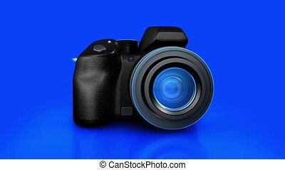 Digital camera - 3D rendering of digital camera with alpha...