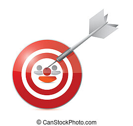 selected target candidate illustration design over a white...