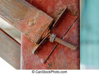 Old rusty screw head