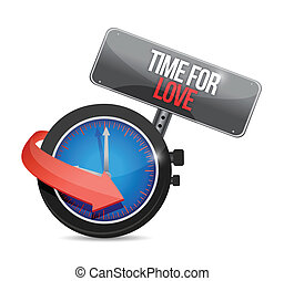 time for love concept illustration