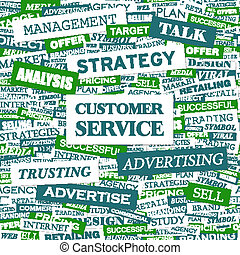 CUSTOMER SERVICE Word cloud concept illustration Wordcloud...