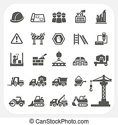 Construction icons set, EPS10, Don't use transparency.