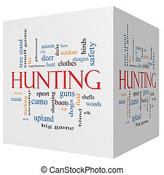 Hunting 3D cube Word Cloud Concept with great terms such as...